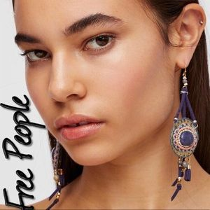 BRAND NEW FREE PEOPLE BEADED BEACHES EARRINGS